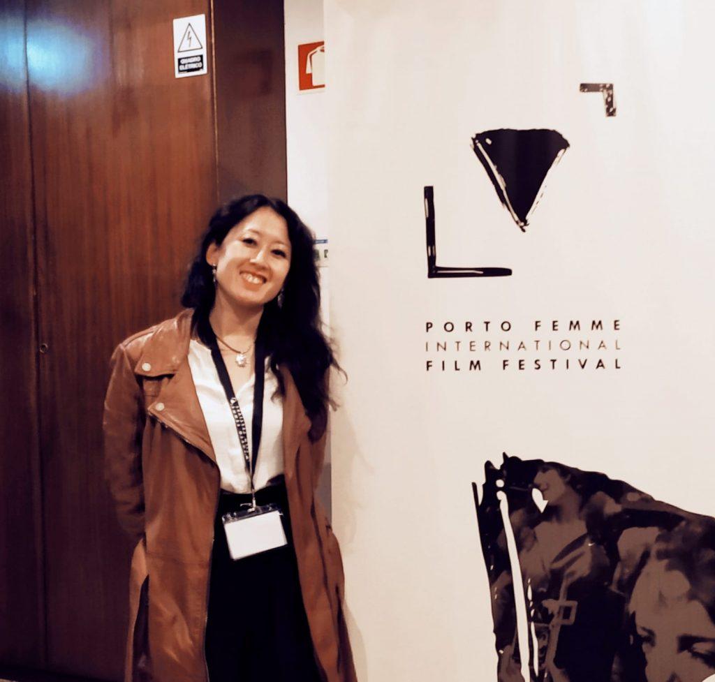 Satoko Kojima, directora de We have a dream, momentos antes de presentar el documental en Porto Femme