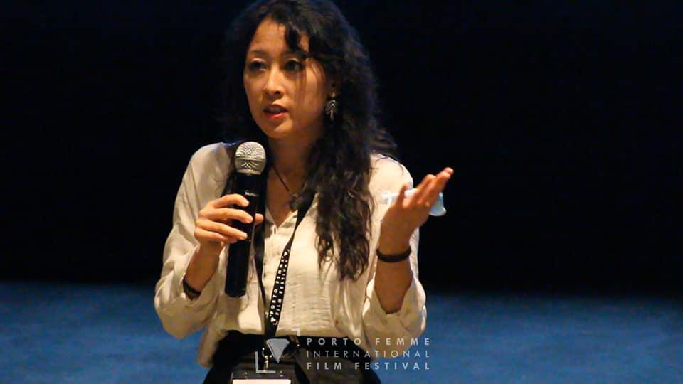 Satoko Kojima en un momento de su intervención en Porto Femme. Foto: Porto Femme