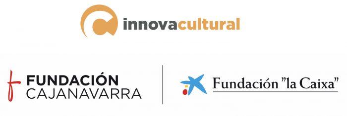 Logotipos Con el apoyo de InnovaCultural, Fundación Caja Navarra, Fundación La Caixa